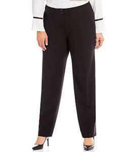 straight leg pants for plus size